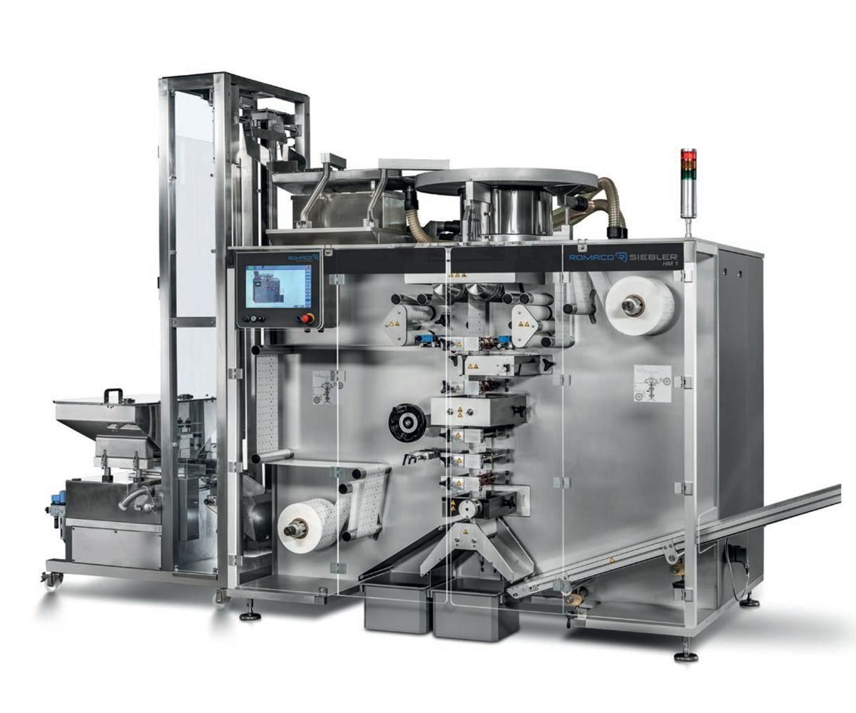 Large Romaco Siebler Machine